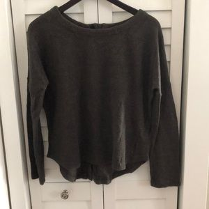 5/$15 Dark grey sweater with back button up